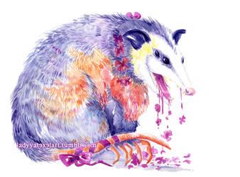 opossum breath by ladyyatexel