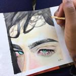 Gouache eyes study