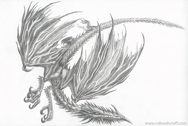 Ice Elemental Dragon by Colin-Ashcroft