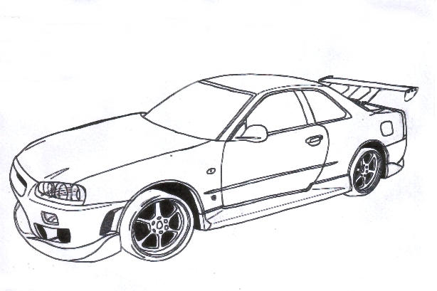 skyline gtr coloring pages - photo#17