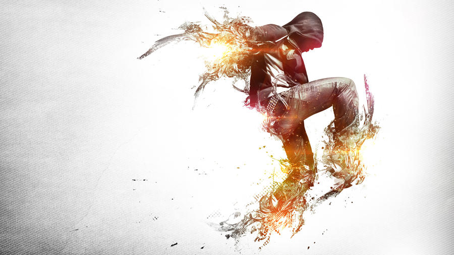 Tribute of Break-Dancing Wallpaper by alekSparx