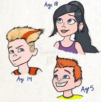 The Parr Kids by TheAmbears