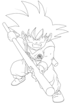 Lineart 035 - Gokuh 006