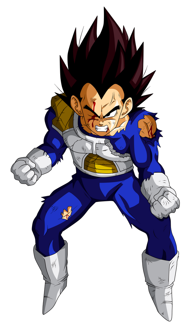 Colored 019 - Vegeta 007 by VICDBZ