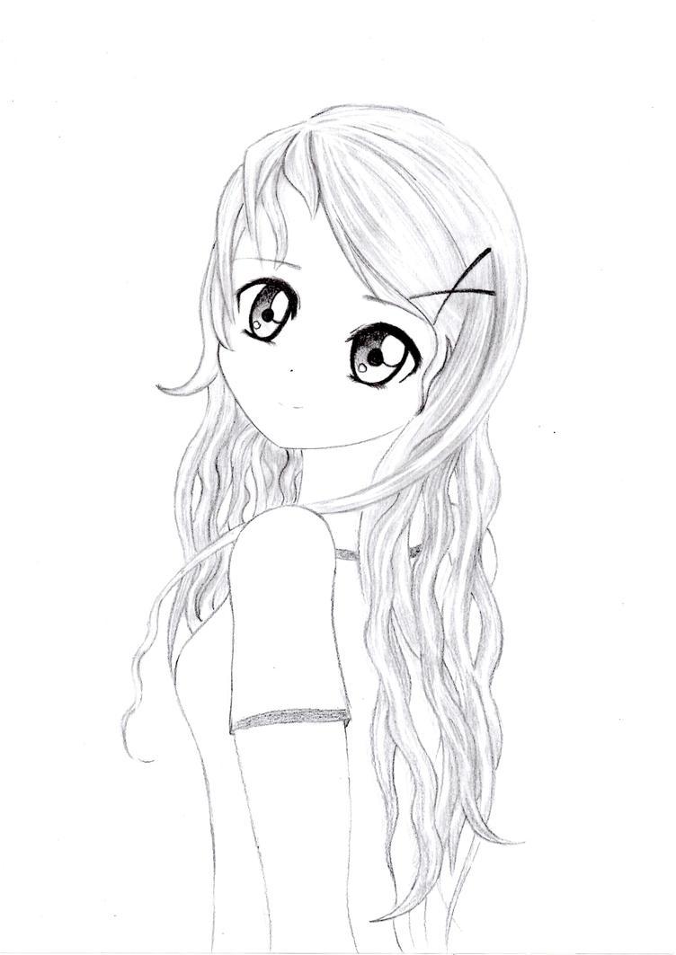 Girl Drawing Fashion Simple