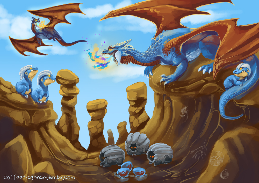 Salamence Canyon by theCoffeeDragon on DeviantArt