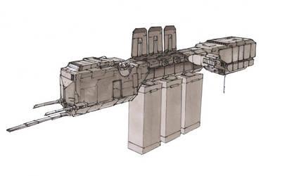 Ginir Class Freighter by Orpheus7