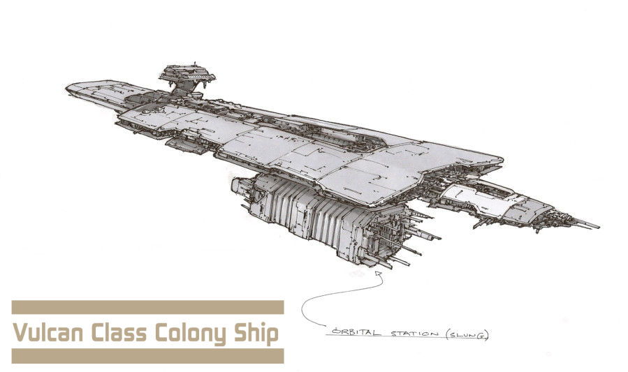 Colony Ship by Orpheus7