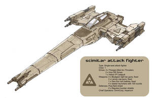 Scimitar Attack Fighter by Orpheus7