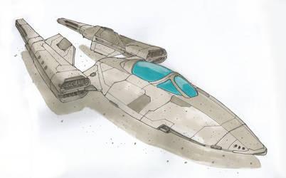 Goshawk Scout Ship by Orpheus7