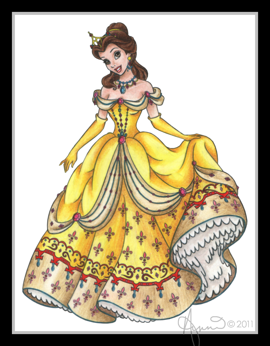 Disney princess belle by fairygodpiggy on deviantart