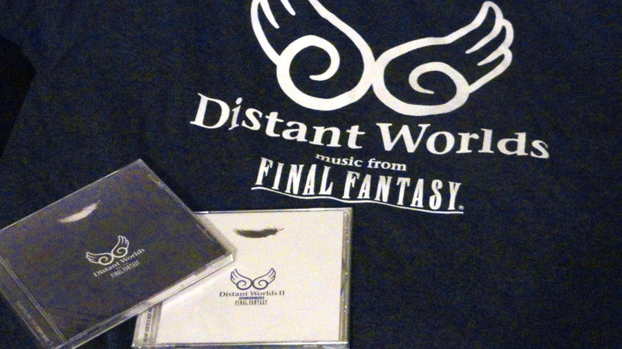 Distant Worlds T-shirt and CDs by fairygodpiggy