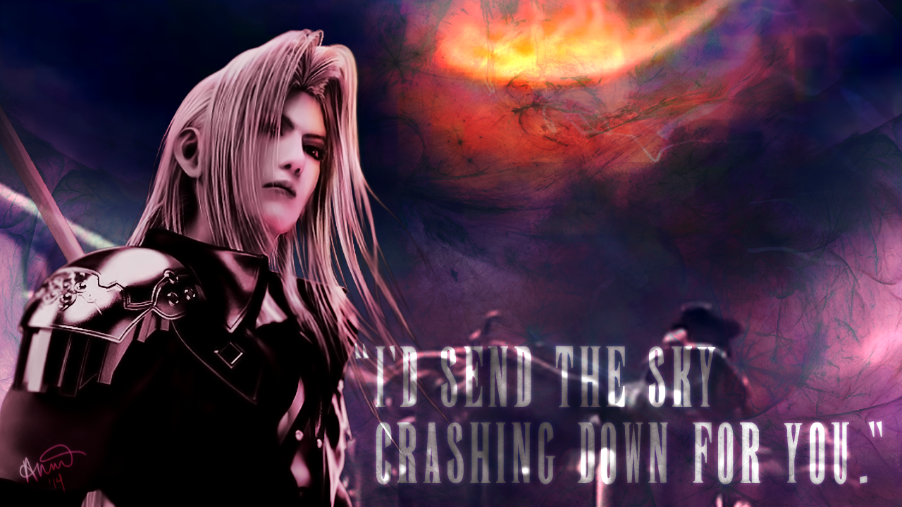 Final Fantasy Valentine - Sephiroth by fairygodpiggy