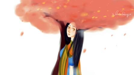 flower tree by qianyuanliulan