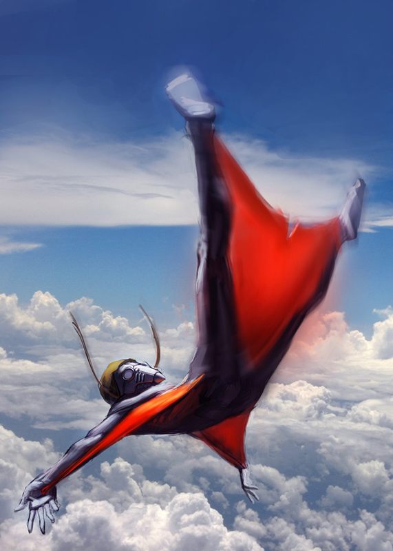 Look, no parachute by matjosh