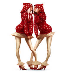 Little Red Mushroom Headz by matjosh