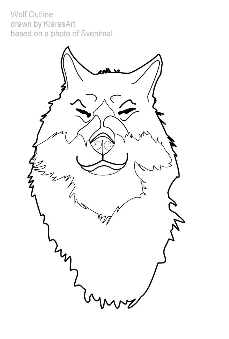 wolf face outlines by KIARAsART on DeviantArt