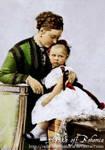 Empres Victoria with daughter