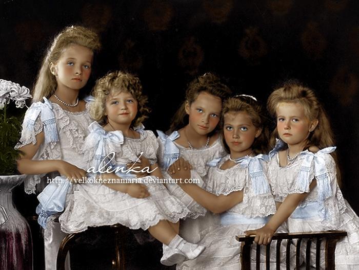 Romanov_children_by_VelkokneznaMaria.jpg (700×528)
