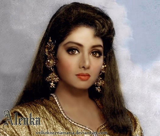 Beautiful Indian Bollywood Actress All Time: Sridevi In Gold By VelkokneznaMaria On DeviantArt