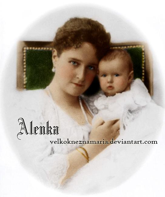 Alix with baby Anastasia by VelkokneznaMaria
