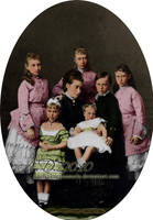 Grand Duchess Alice with kids by VelkokneznaMaria
