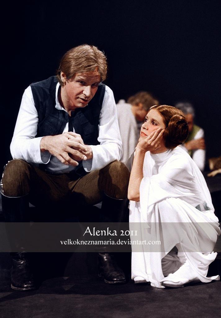 Han And Leia By Velkokneznamaria On Deviantart