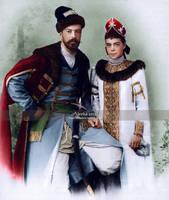 Sandro and Ksyusha by VelkokneznaMaria