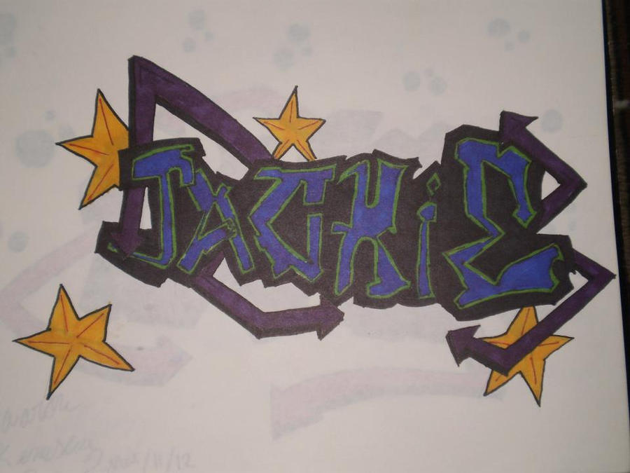 graffiti name drawing ( Jackie) 2 by kemsley
