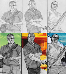 Gta drawing, paintshopped the rest by LetsGetAsmileNow