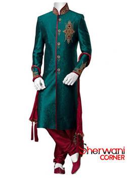 Silky fabric introduced in sherwani