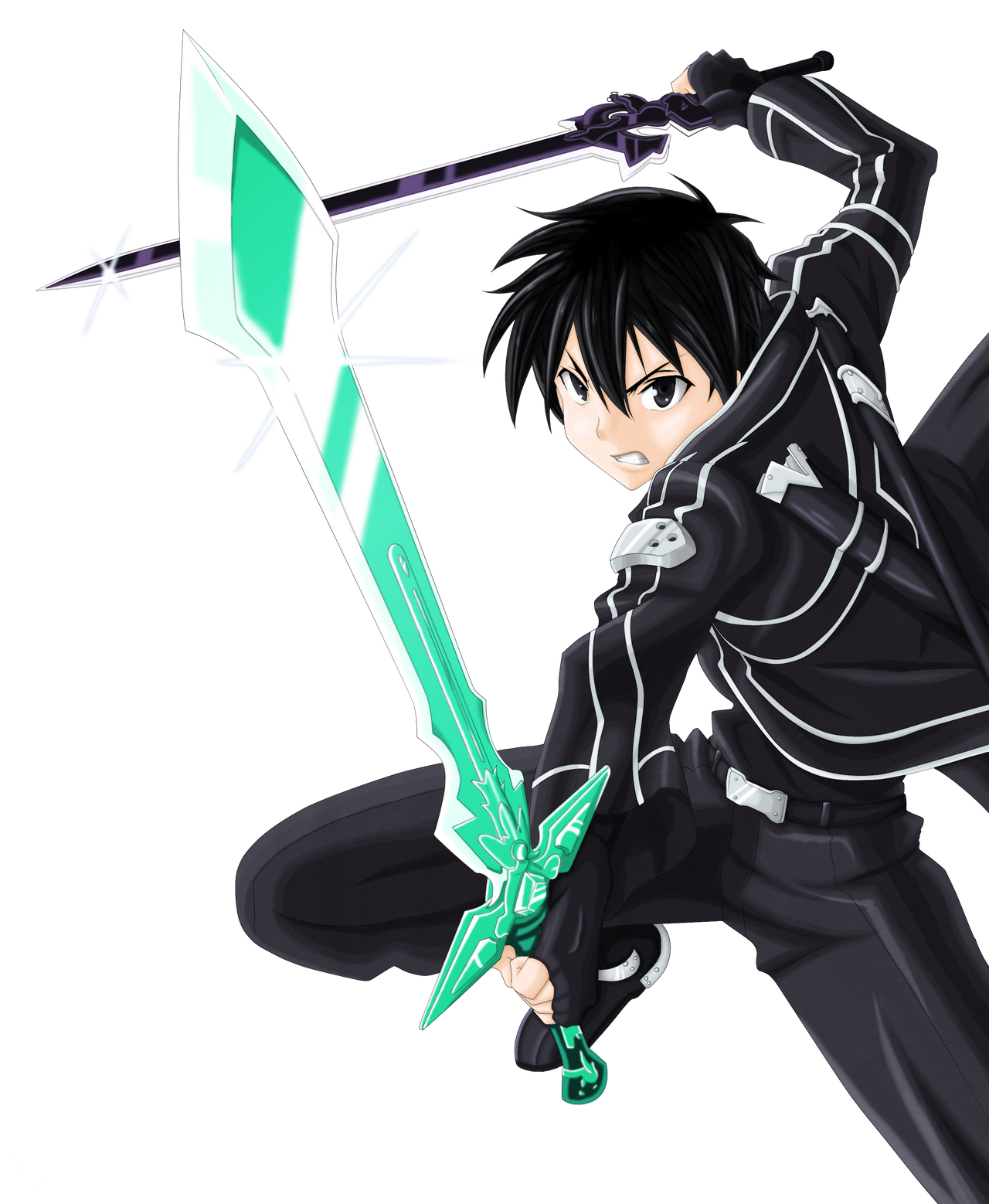Anime Characters Use Dual Swords : Wip kirito dual blade by tobeyd on deviantart