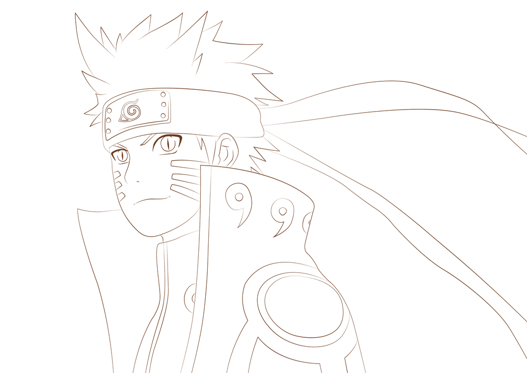 naruto coloring pages nine tailed fox - naruto kyuubi mode lineart by tobeyd on deviantart