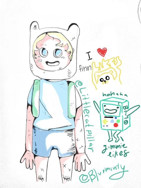 Hey its FINN! In COLOR! by Blueminty