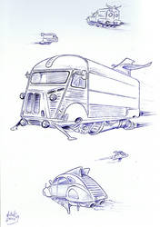 Citroen HY futuristic