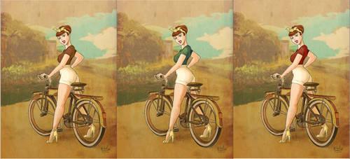 vintage bike Pin Up