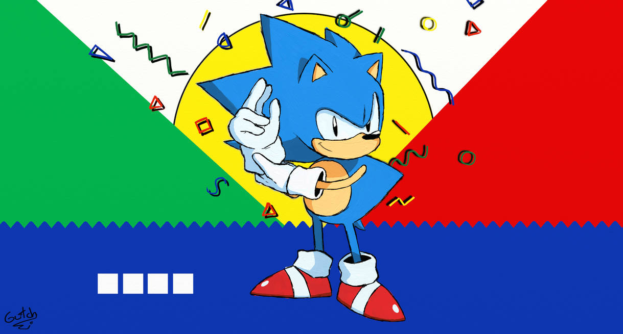 Sonic Mania Wallpaper Sonic 1 Style By Glitchedvercius On