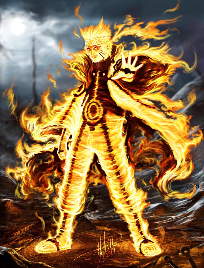 Naruto Kurama Mode KURAMA-SAGE MODE NARUT...