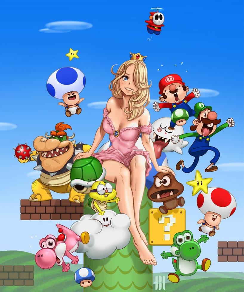 Crazy Mario by Legibbon