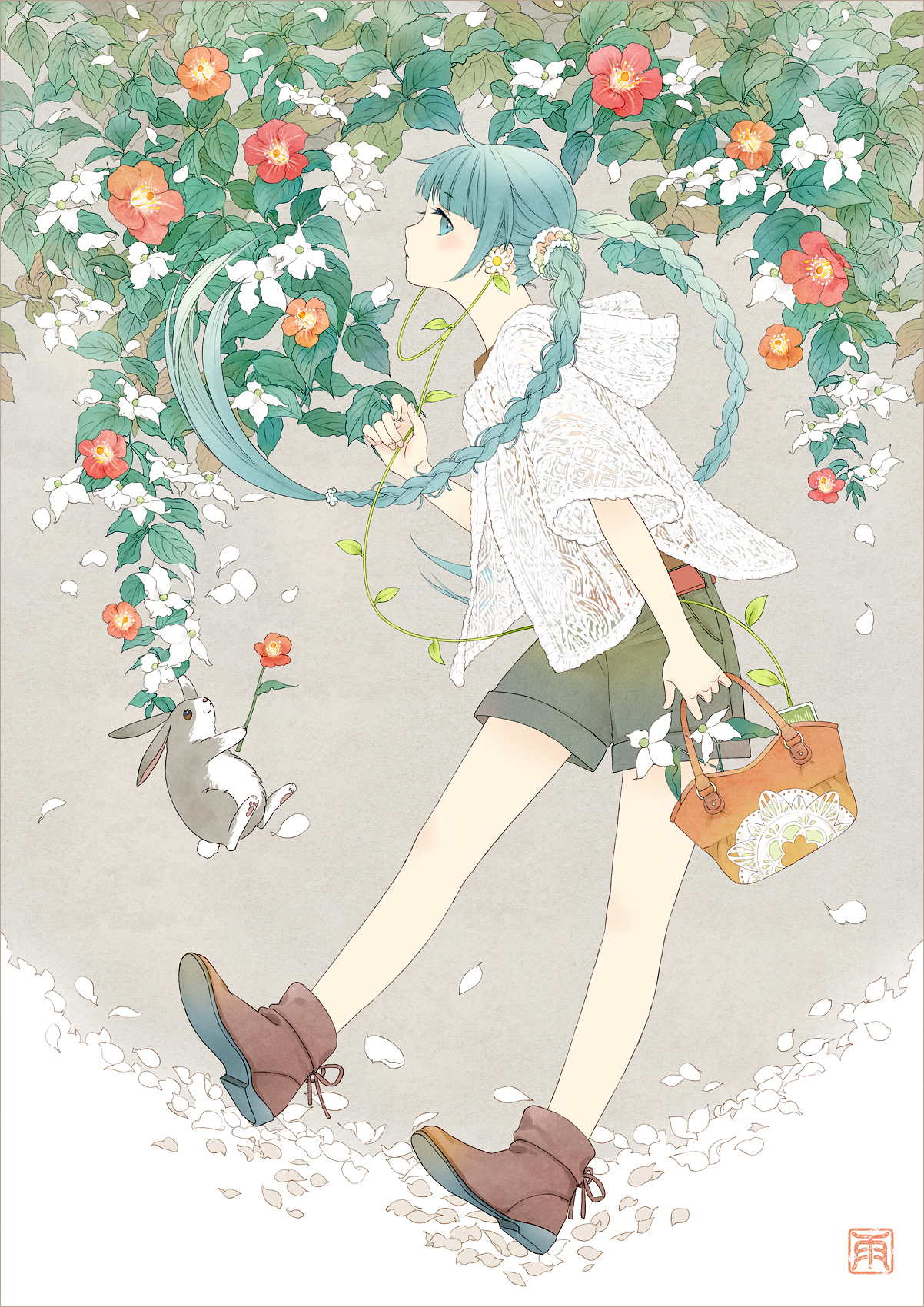 Flower Miku by conronca