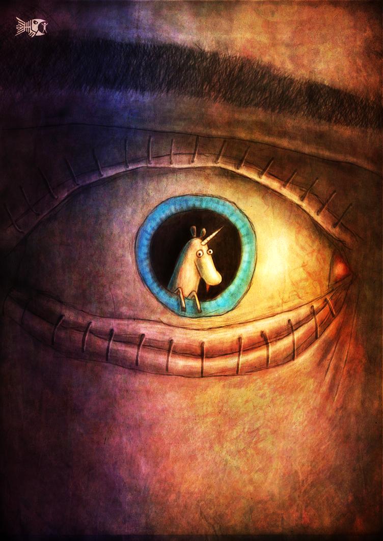 Little unicorn in the eye by FriendlyFish