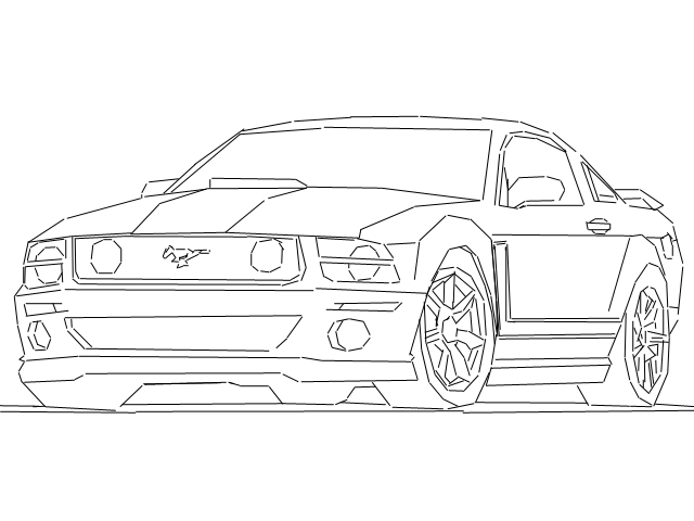 ford mustang outline