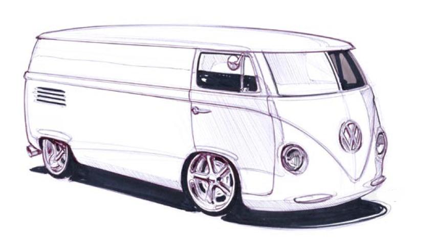 VW Van Sketch by magnek on DeviantArt