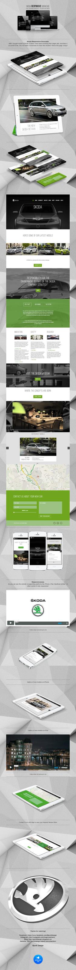 Skoda Responsive Showcase Website by magnek