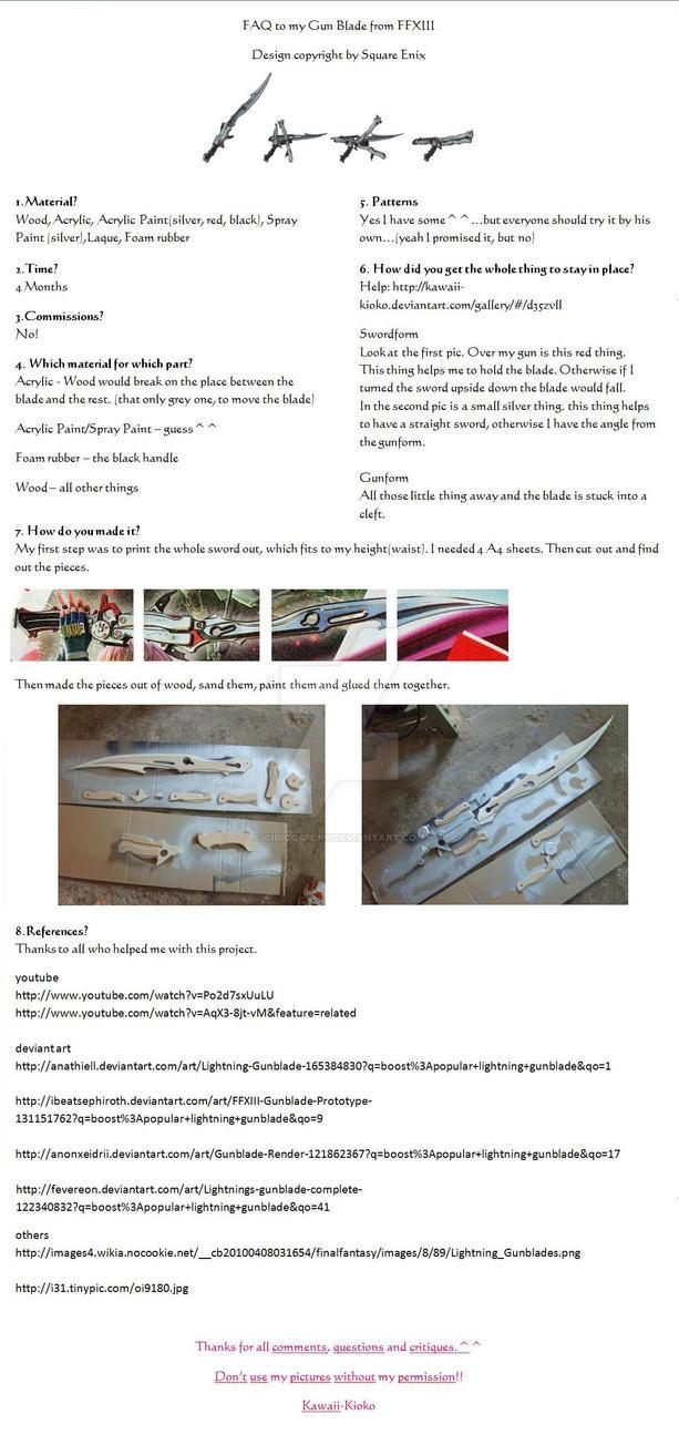 FAQ Gun Blade FFXIII by Kawaii-Kioko