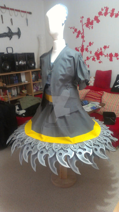 Hanzo Hattori WIP weapon dress by Kawaii-Kioko