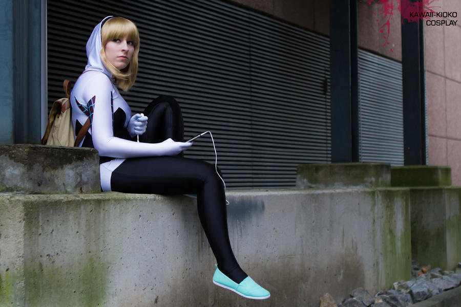 Resting - Spider Gwen Cosplay by Kawaii-Kioko