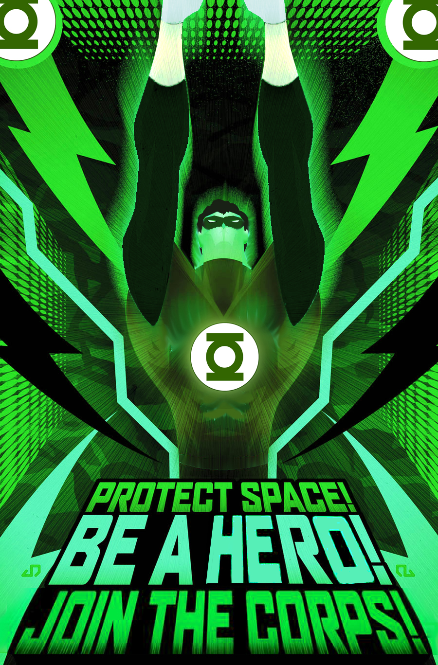 Wicked Green Lantern Illustration