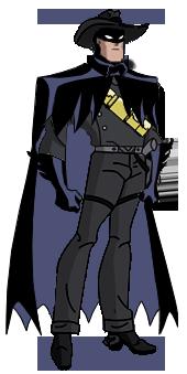 Bruce Wayne Cowboy DCAU style by Azraeuz