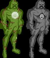 Swamp Thing DCAU style by Azraeuz